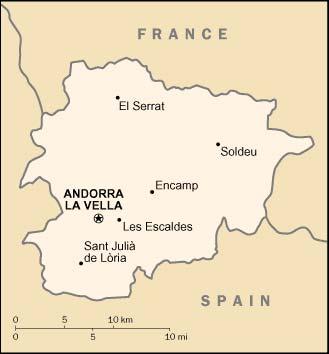 carte d'Andorre