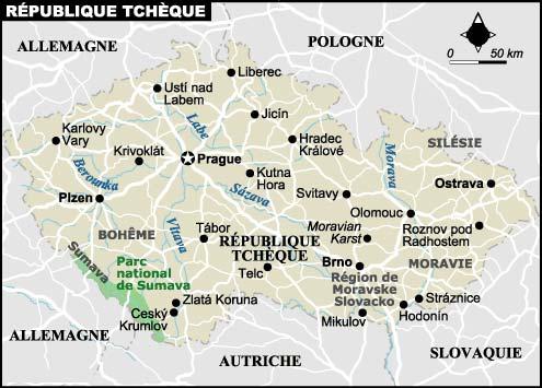 carte de la République Tcheque
