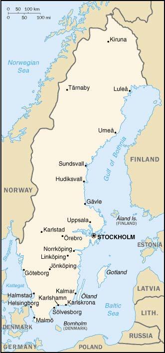 carte de la Suede
